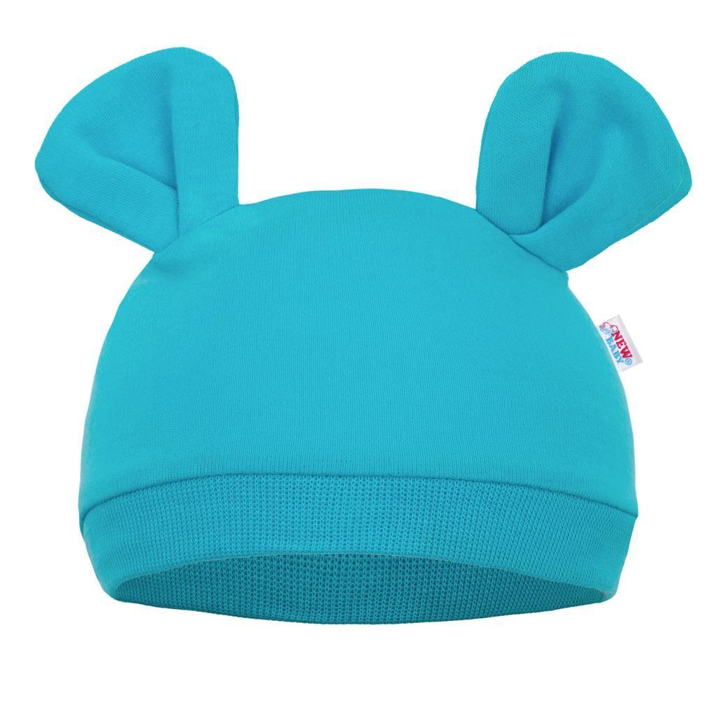 Dojčenská čiapočka New Baby Mouse tyrkysová-68/74