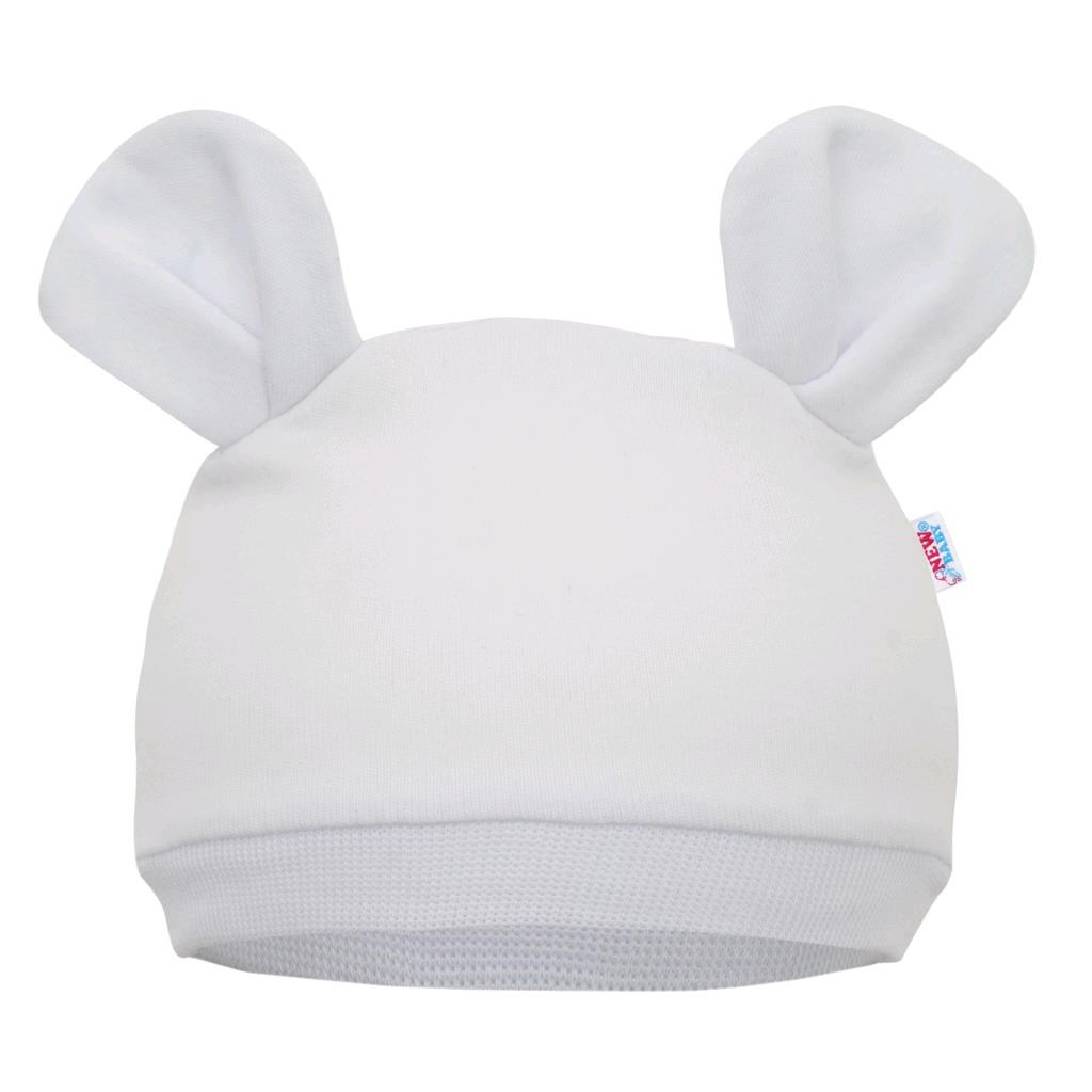 Dojčenská čiapočka New Baby Mouse biela