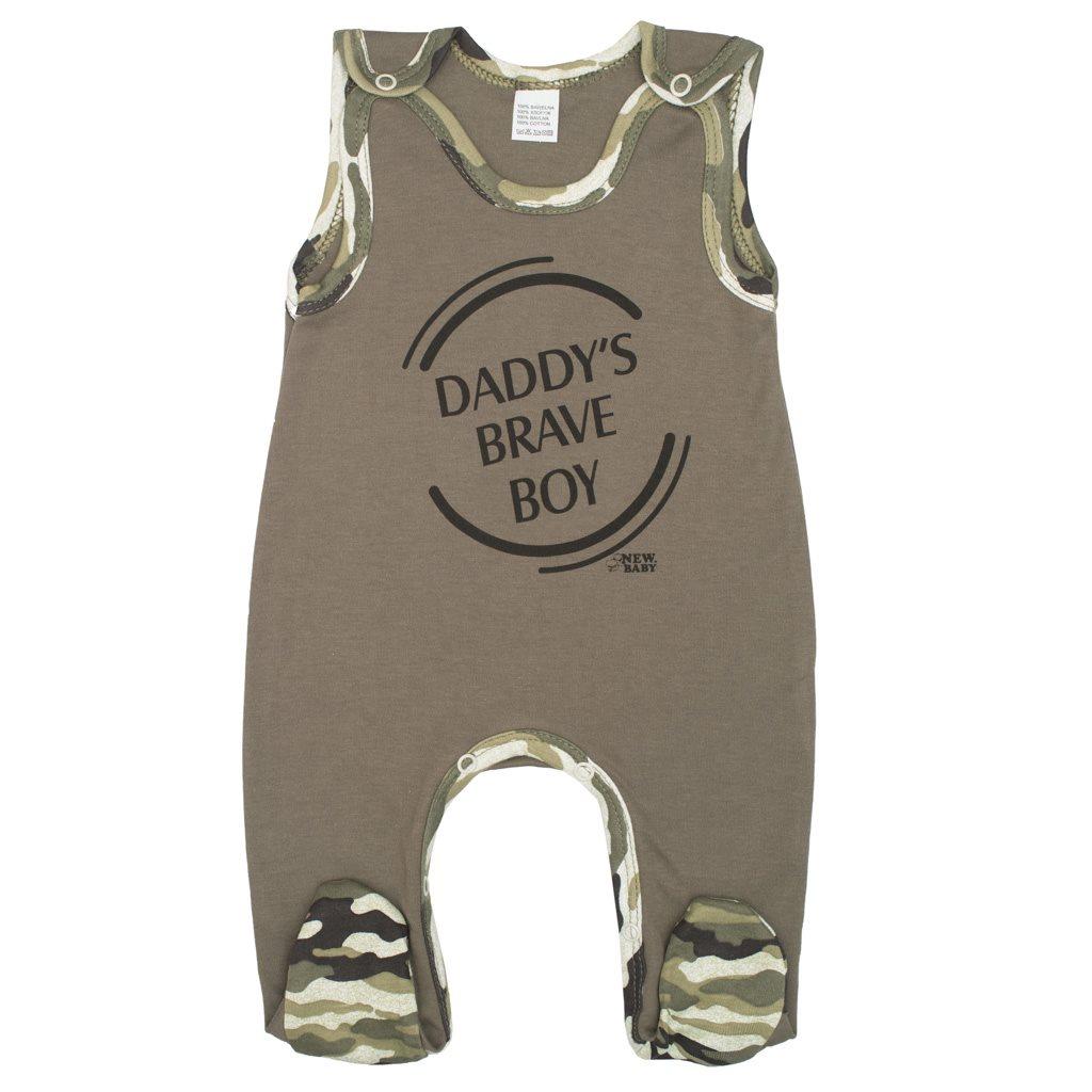 Dojčenské dupačky New Baby Army boy-56 (0-3m)