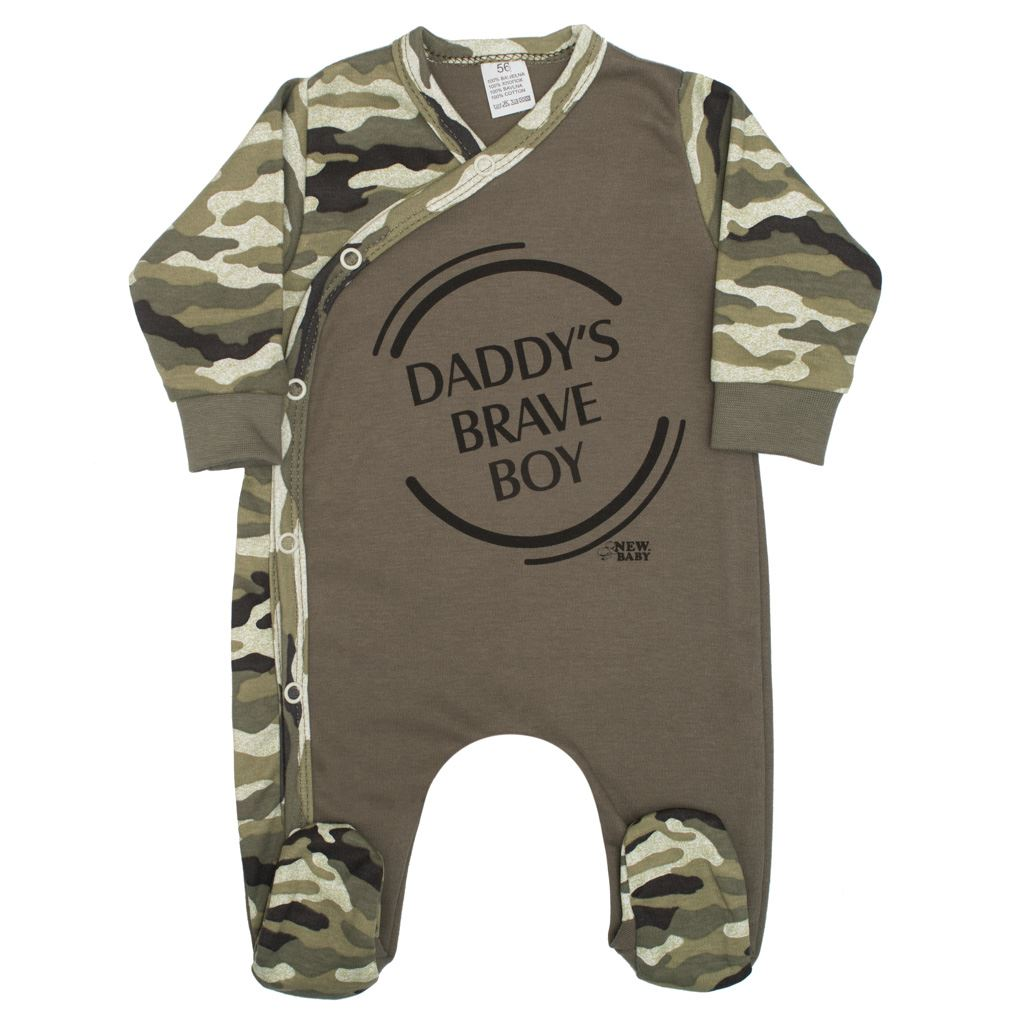 Dojčenský overal New Baby Army boy
