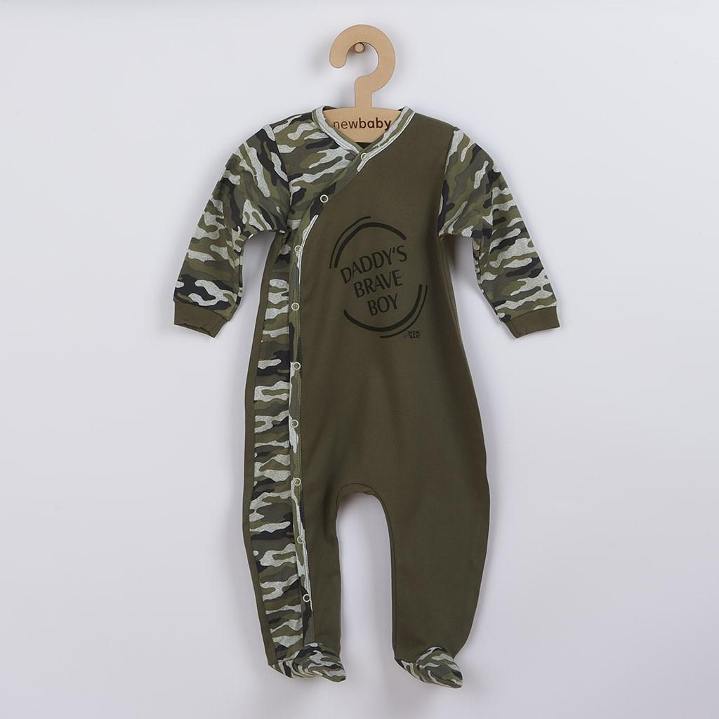 Dojčenský overal New Baby Army boy-80 (9-12m)