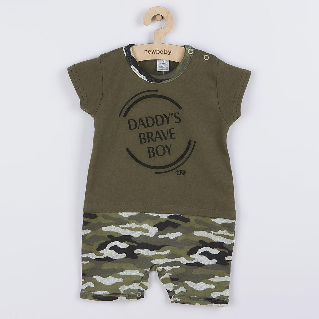 Dojčenský letný overal New Baby Army boy-80 (9-12m)