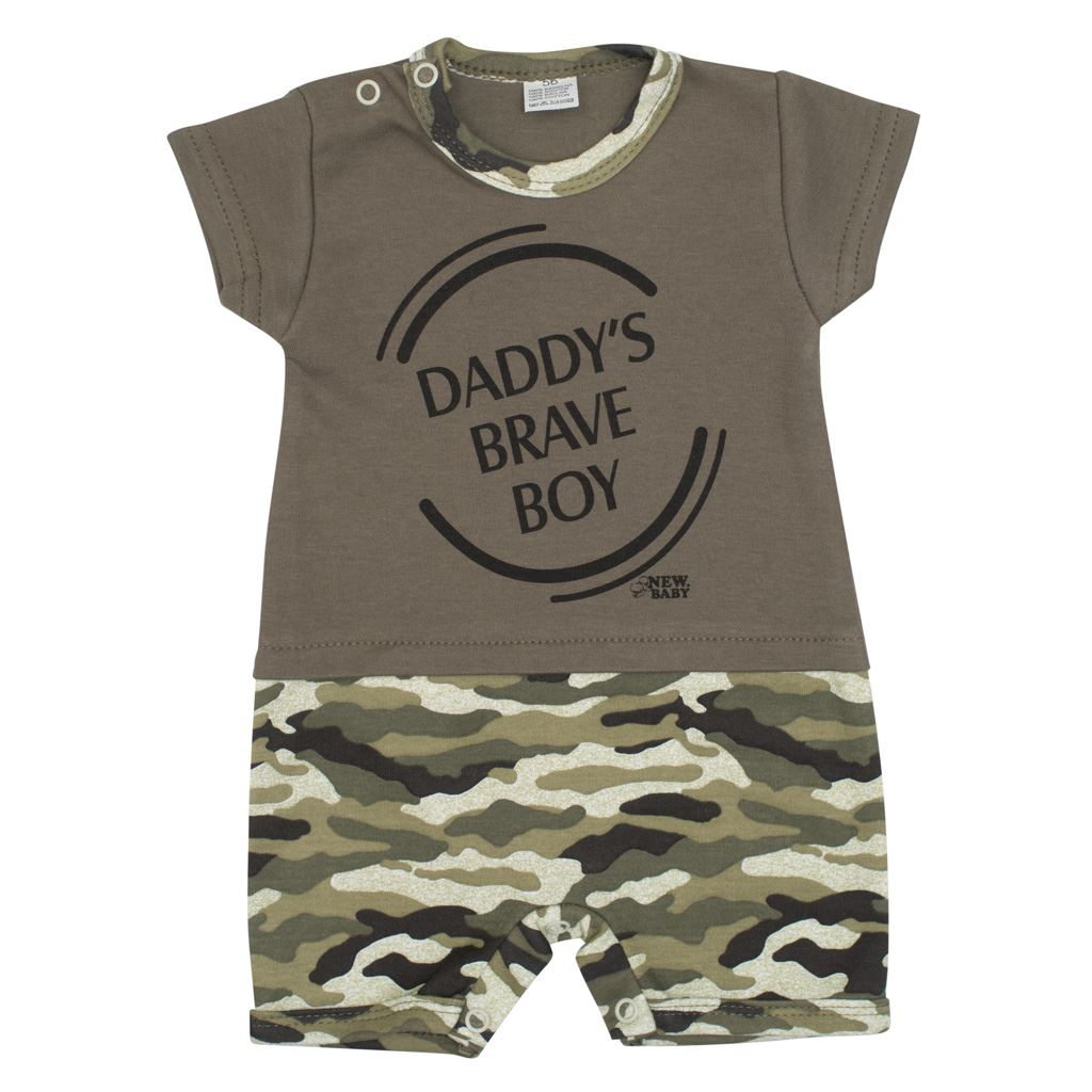 Dojčenský letný overal New Baby Army boy 92 (18-24m)