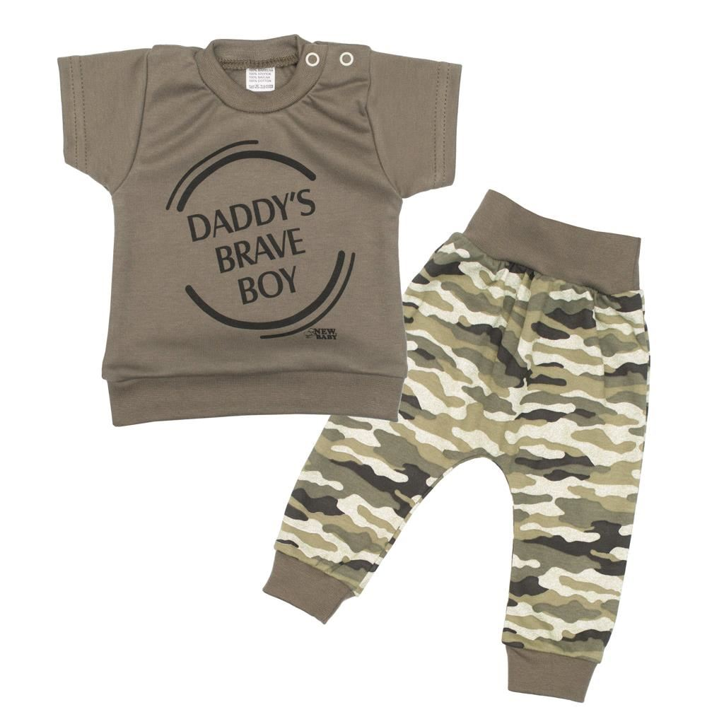 2-dielna dojčenská súprava New Baby Army boy-68 (4-6m)