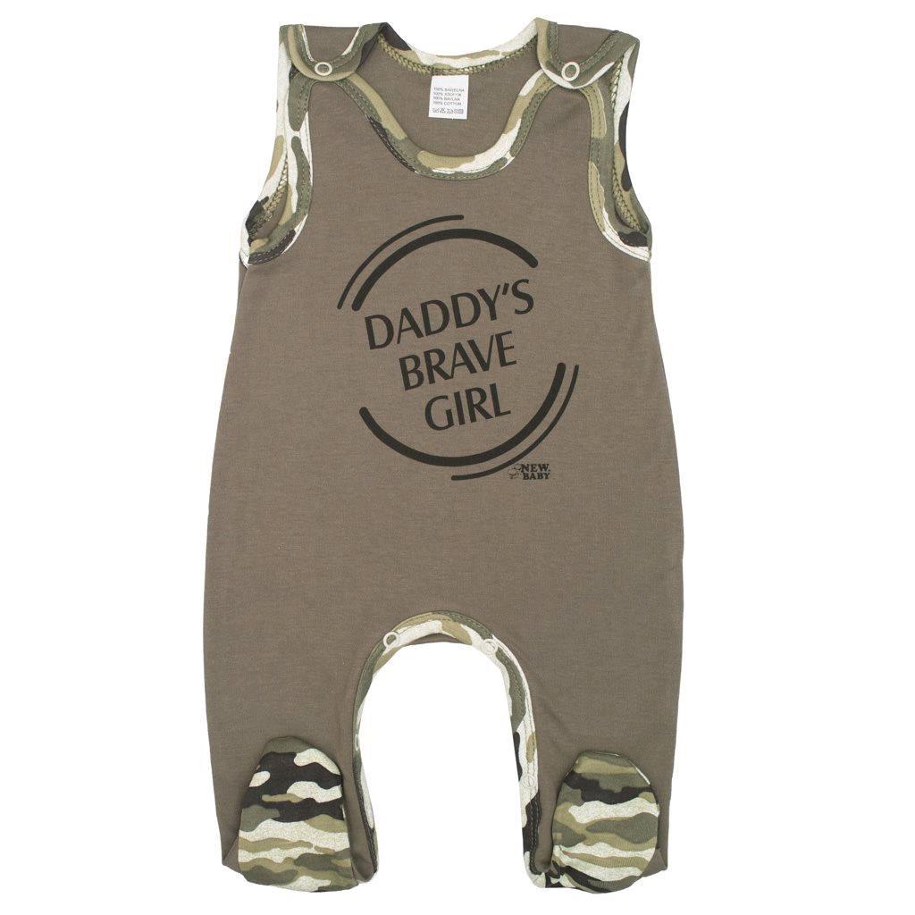 Dojčenské dupačky New Baby Army girl-68 (4-6m)