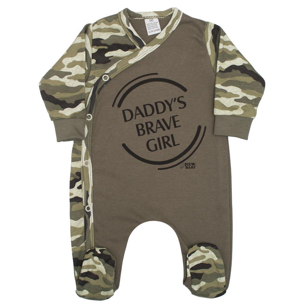 Dojčenský overal New Baby Army girl-68 (4-6m)