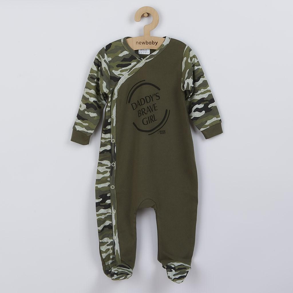 Dojčenský overal New Baby Army girl-80 (9-12m)