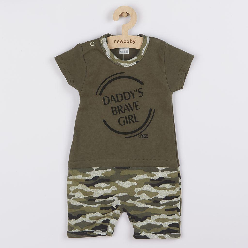 Dojčenský letný overal New Baby Army girl-80 (9-12m)