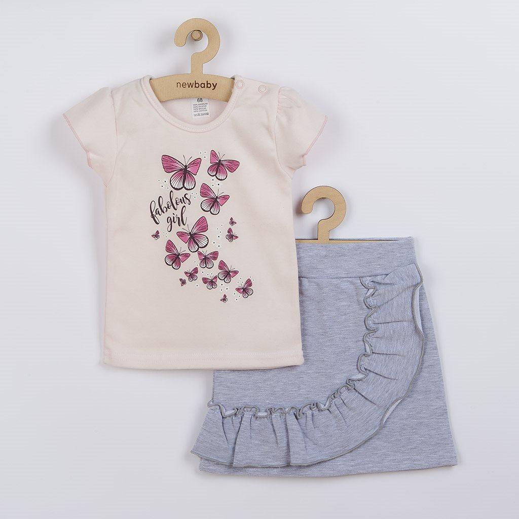 Dojčenské tričko so sukienkou New Baby Butterflies-68 (4-6m)