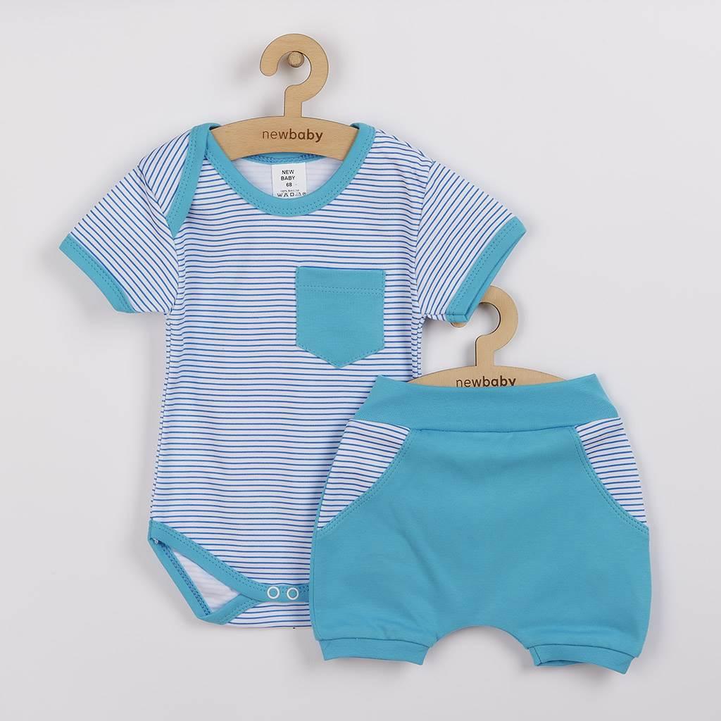 2-dielna letná bavlnená súprava New Baby Perfect Summer tyrkysová-68 (4-6m)