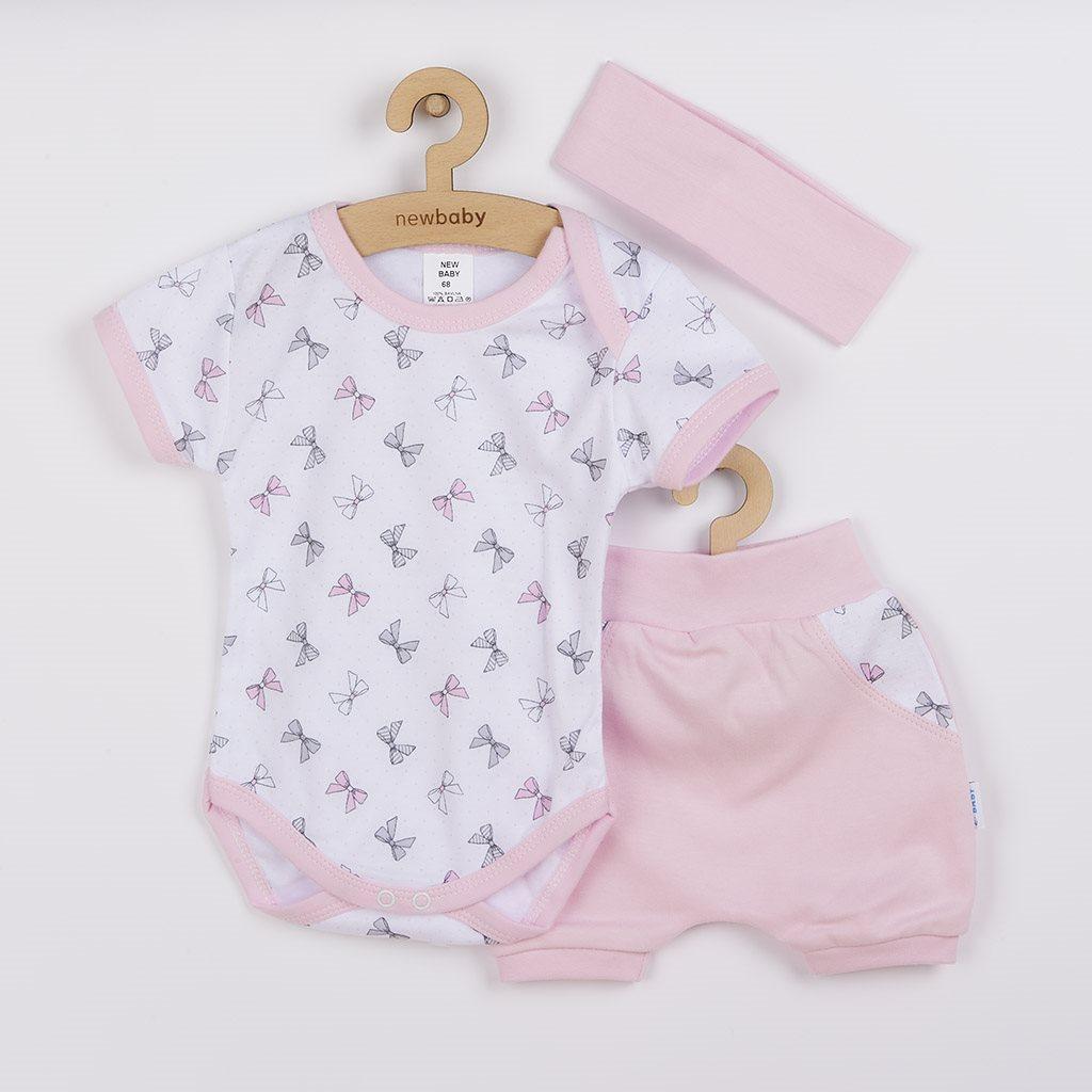 3-dielna letná bavlnená súprava New Baby Perfect Summer ružová-74 (6-9m)
