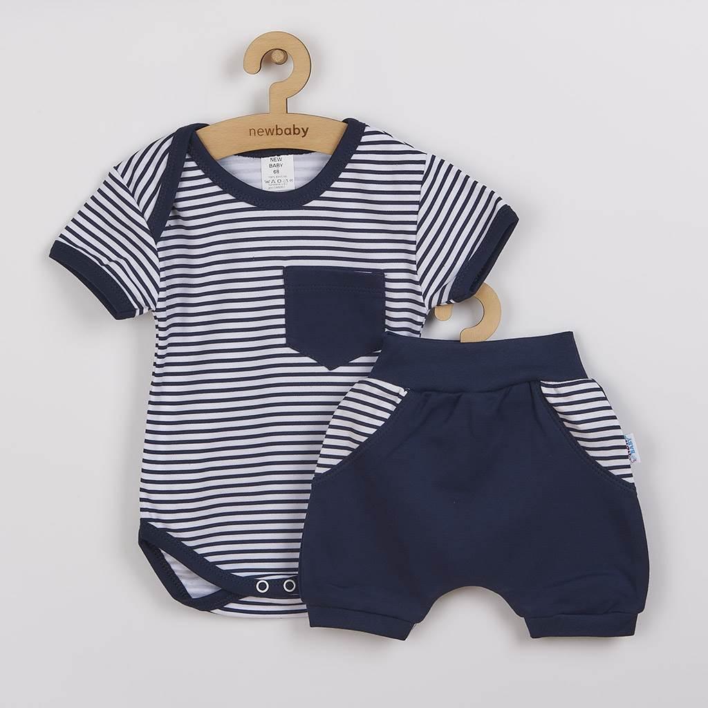 2-dielna letná bavlnená súprava New Baby Perfect Summer modrá-92 (18-24m)