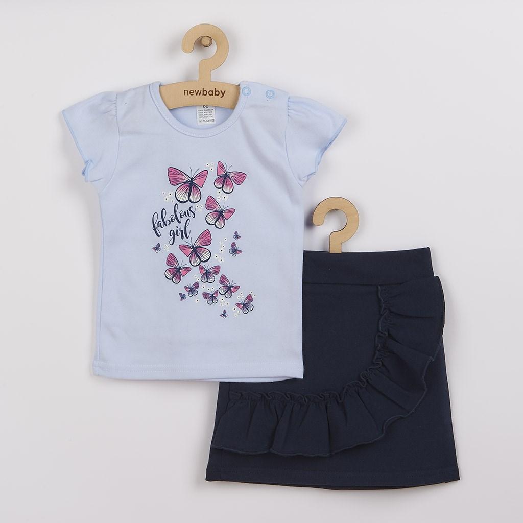 Dojčenské tričko so sukienkou New Baby Butterflies modrá-86 (12-18m)