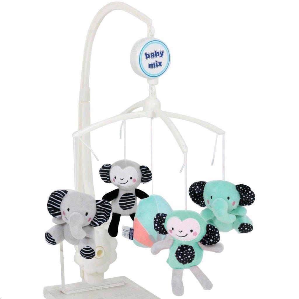 Kolotoč nad postieľku Baby Mix Zoo tyrkysový