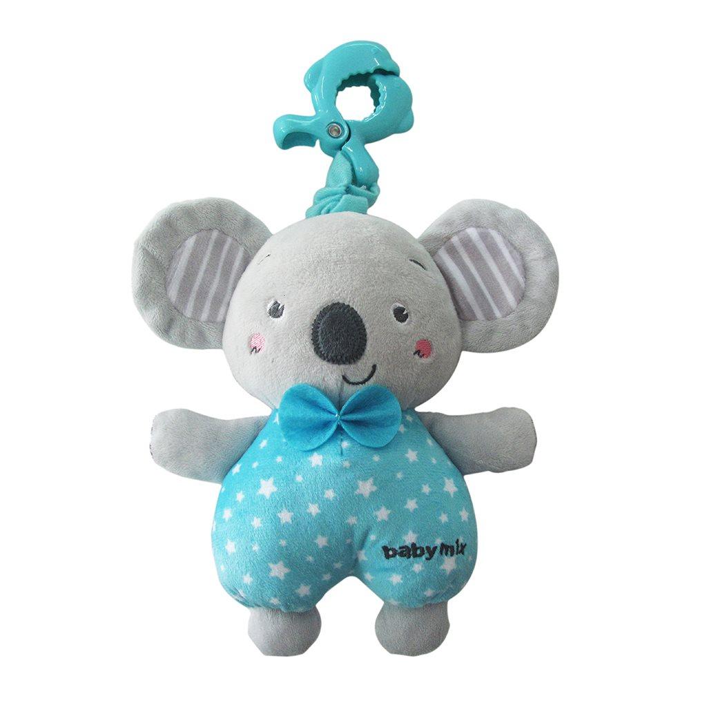 Edukačná hrajúca plyšová hračka s klipom Baby Mix koala