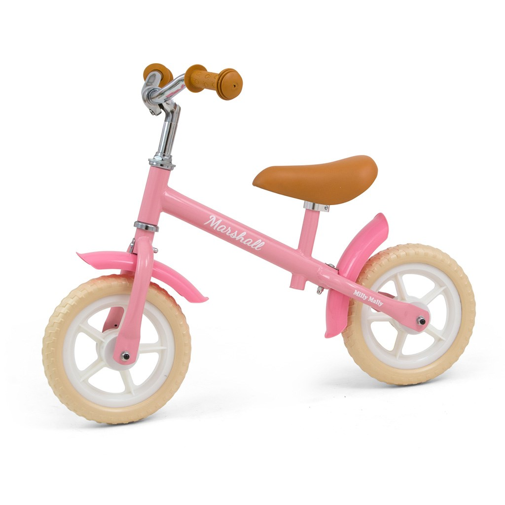 Detské odrážadlo bicykel Milly Mally Marshall Pink
