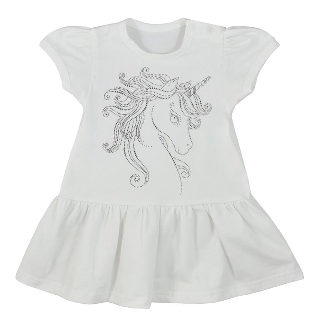 Dojčenské letné šaty Koala Unicorn Summer biele-68 (4-6m)