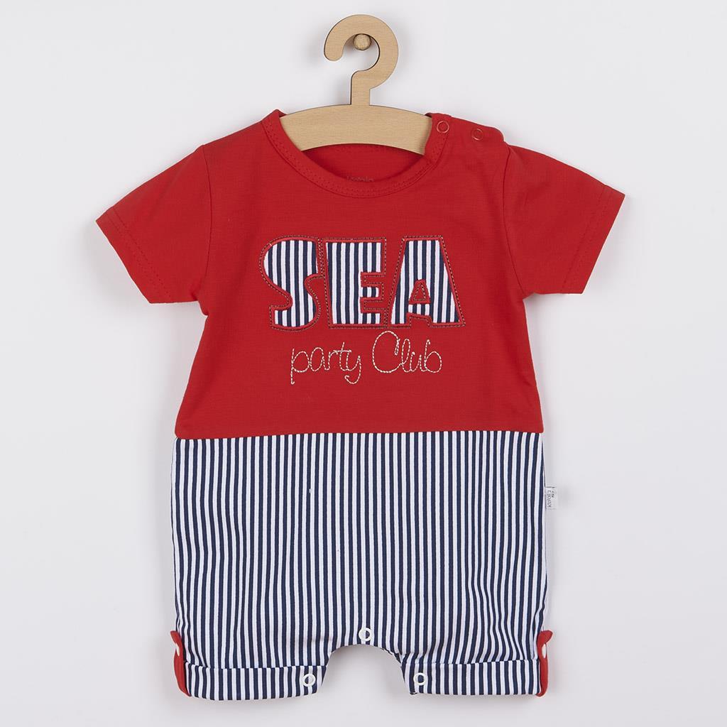 Dojčenský letný overal Koala Sea Party červený