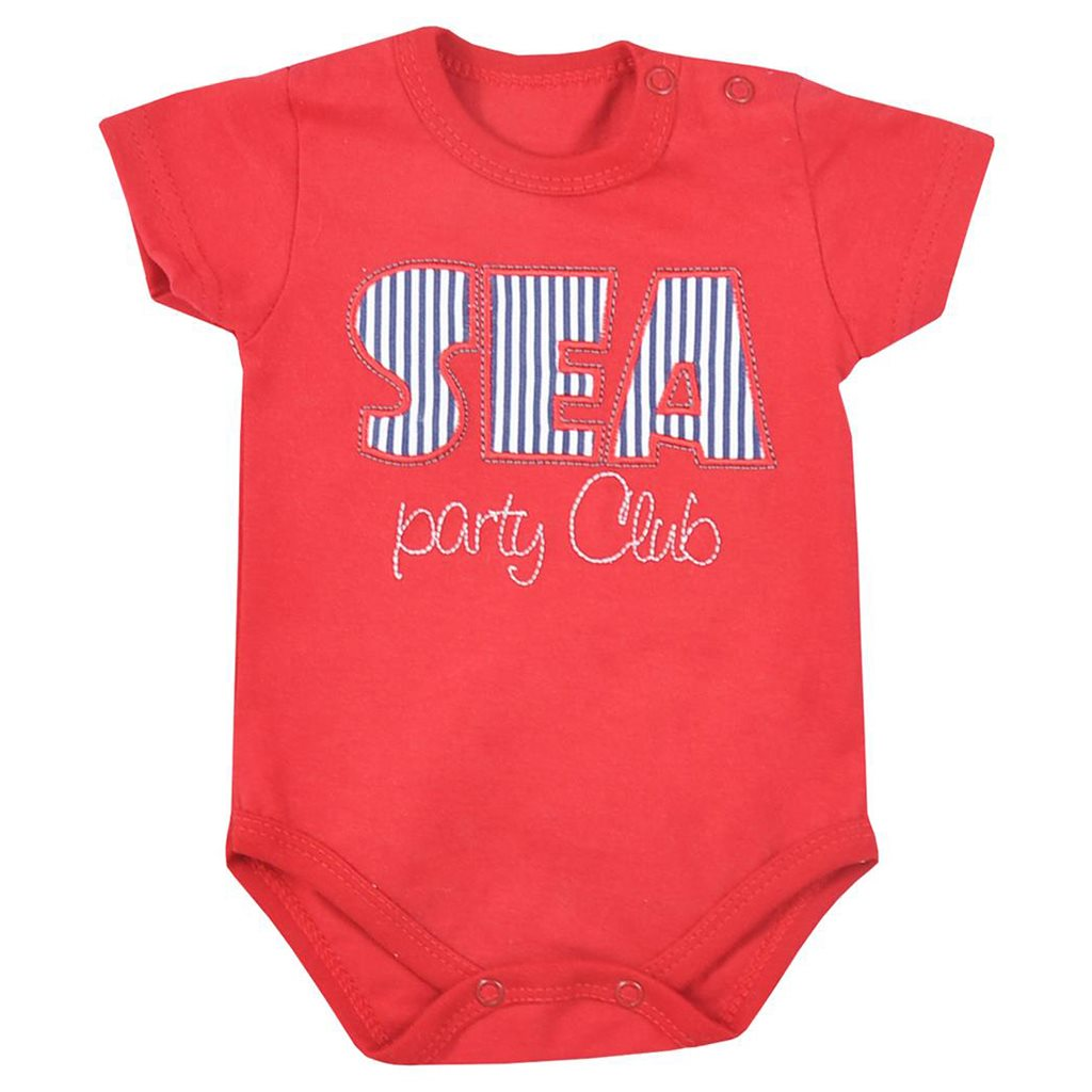 Dojčenské letné body Koala Sea Party červené-86 (12-18m)