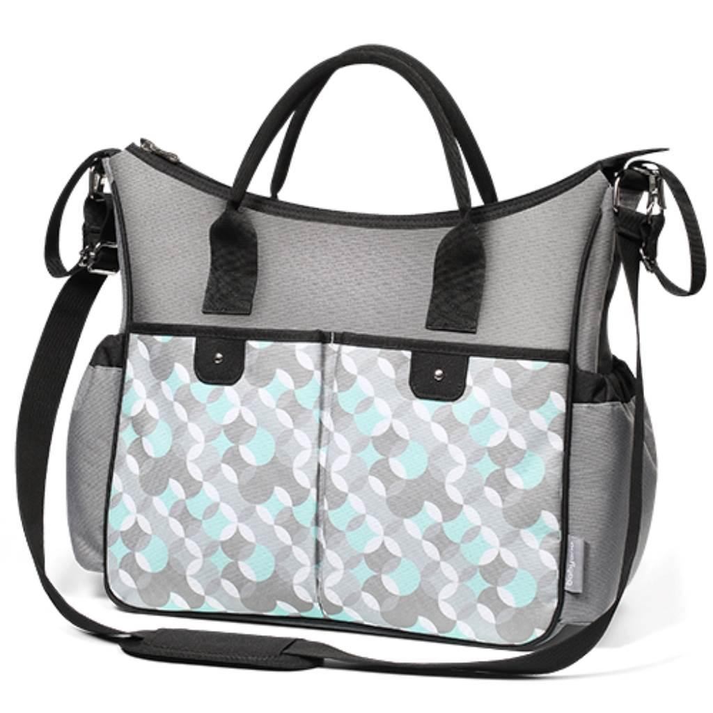 Štýlová taška na kočík BASIC SO CITY Baby Ono sivo tyrkysová, Tyrkysová