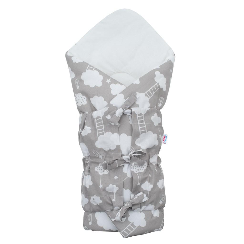 Klasická šnurovacia zavinovačka New Baby Obláčik sivá