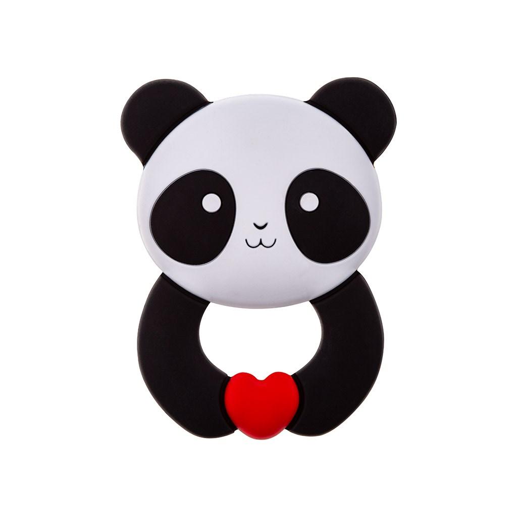Detské silikónové hryzátko Akuku Panda