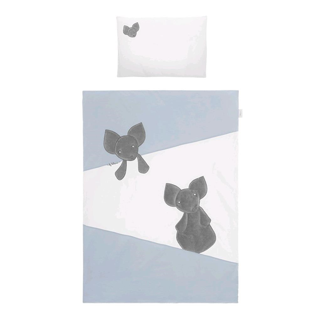 3-dielne posteľné obliečky Belisima Mouse 100/135 modré