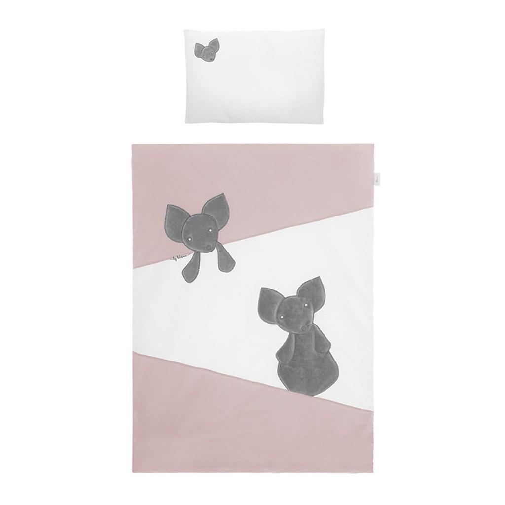 5-dielne posteľné obliečky Belisima Mouse 100/135 růžové