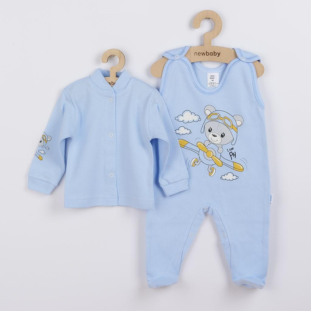 2-dielna súprava New Baby Teddy pilot modrá-50