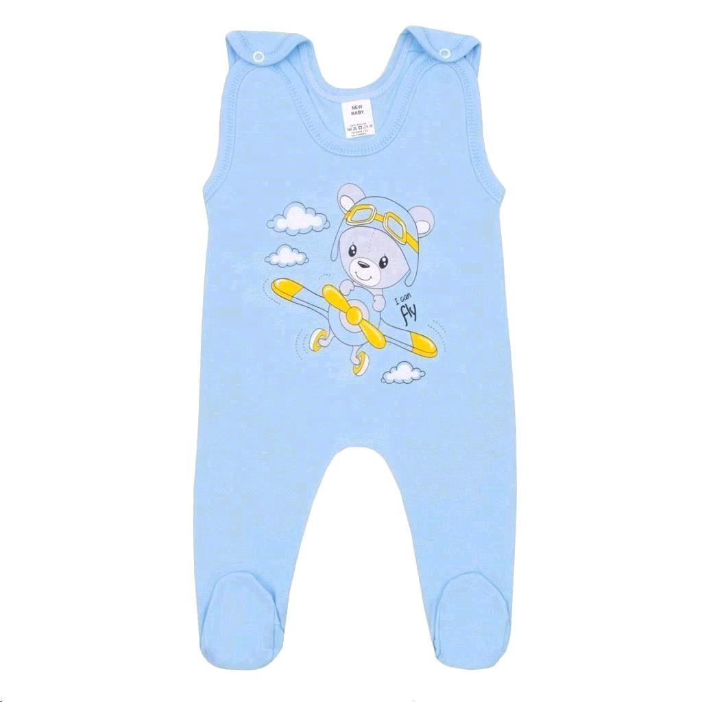 Dojčenské dupačky New Baby Teddy pilot modré-56 (0-3m)