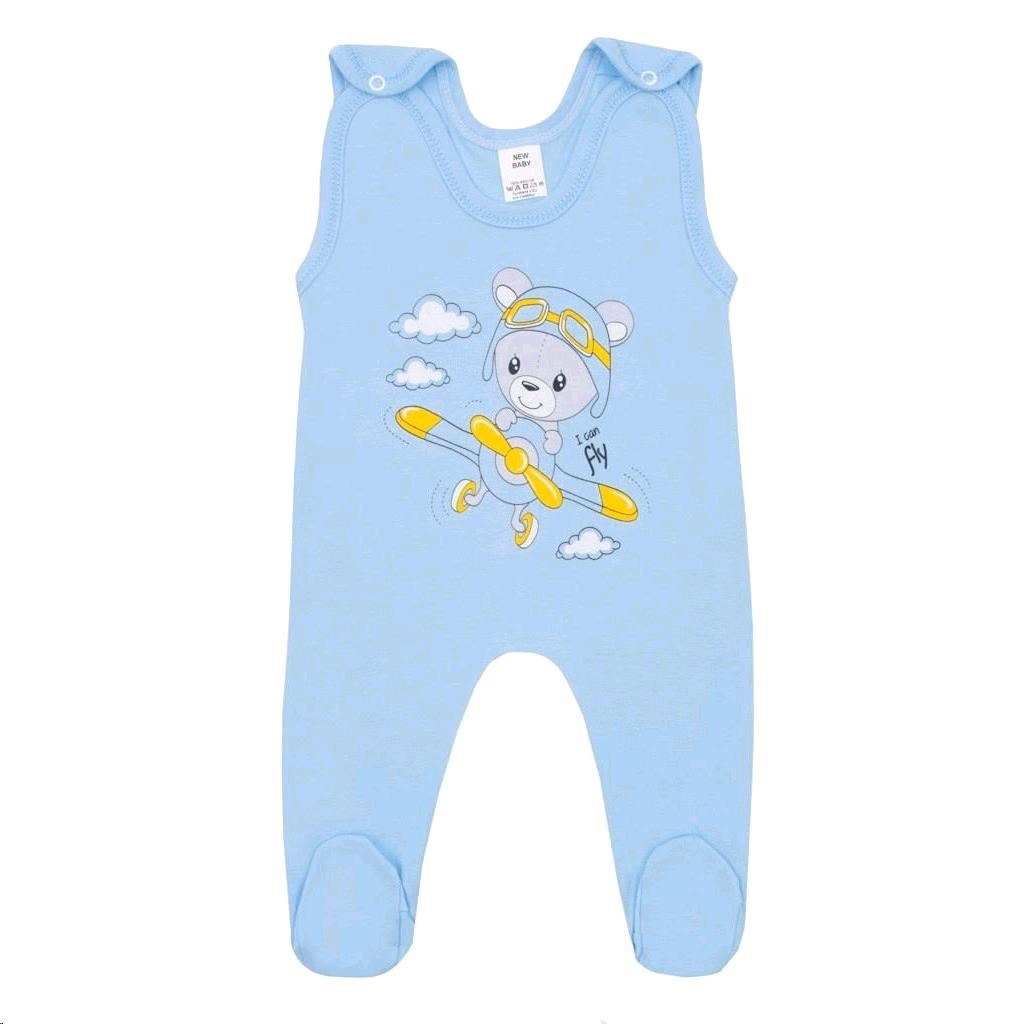 Dojčenské dupačky New Baby Teddy pilot modré-68 (4-6m)