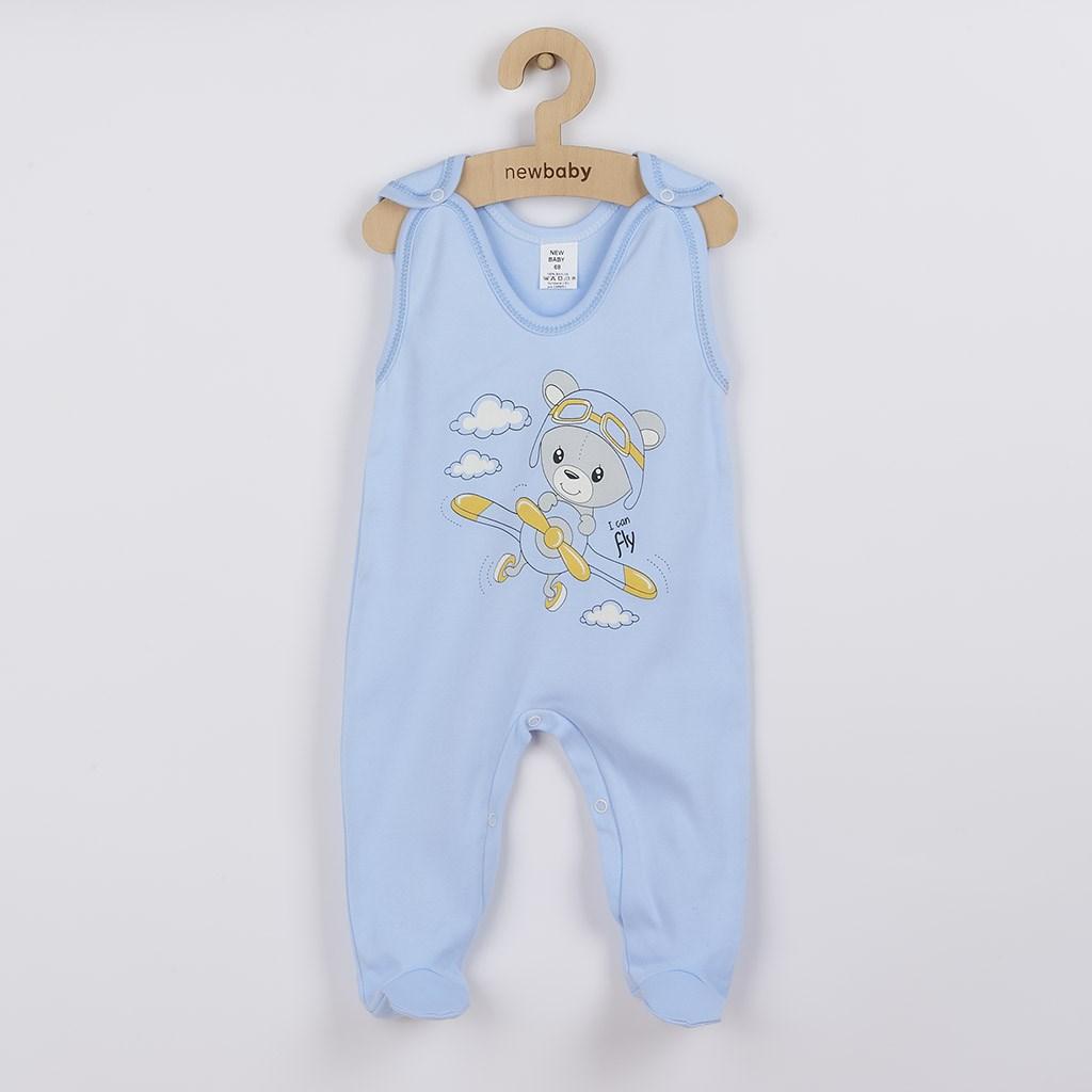Dojčenské dupačky New Baby Teddy pilot modré-86 (12-18m)