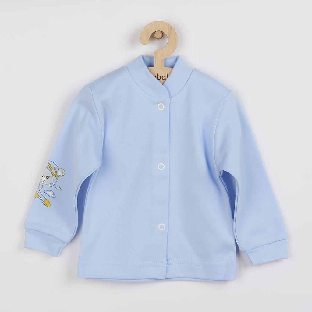 Dojčenský kabátik New Baby Teddy pilot modrý-56 (0-3m)