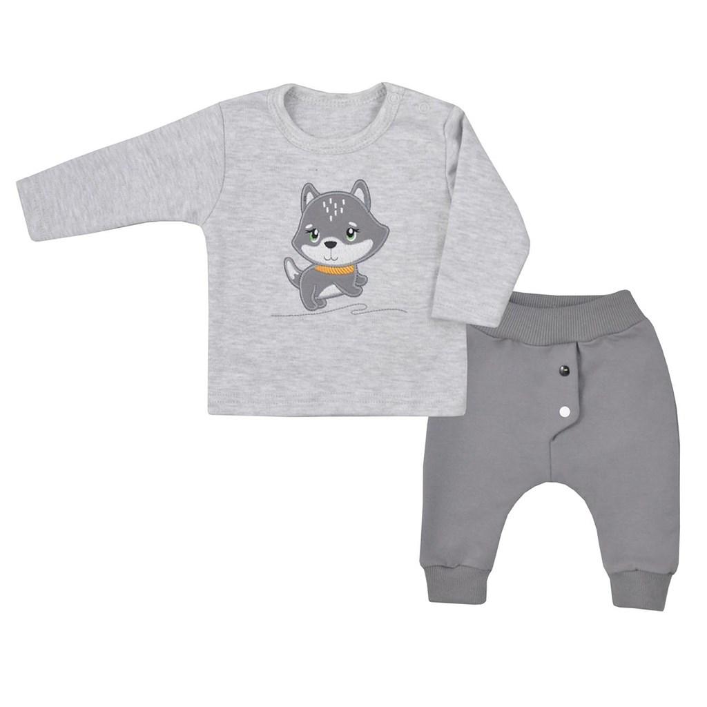 Dojčenské tričko s dlhým rukávom a tepláčky Koala Doggy-68 (4-6m)