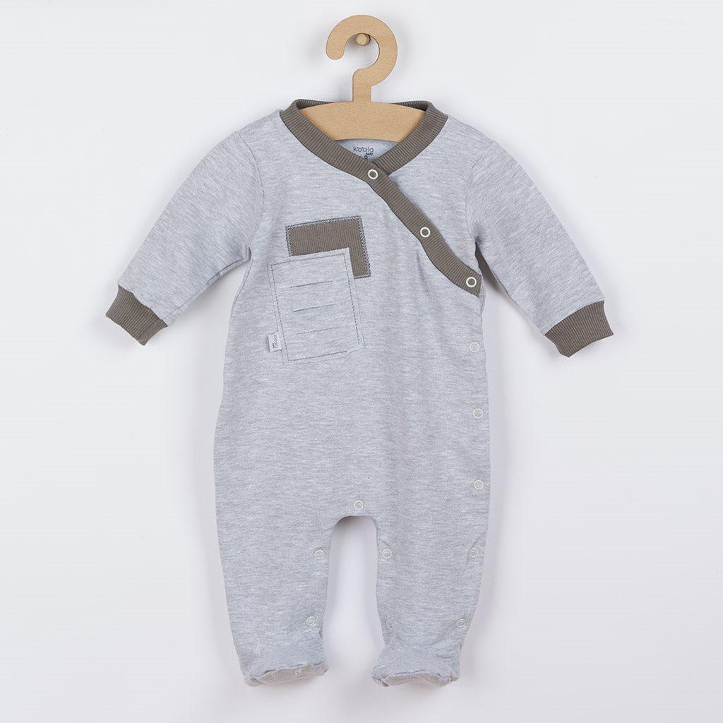 Dojčenský overal Koala Kamil sivý