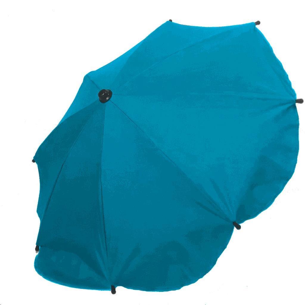 Slnečník na kočík - modrý melír