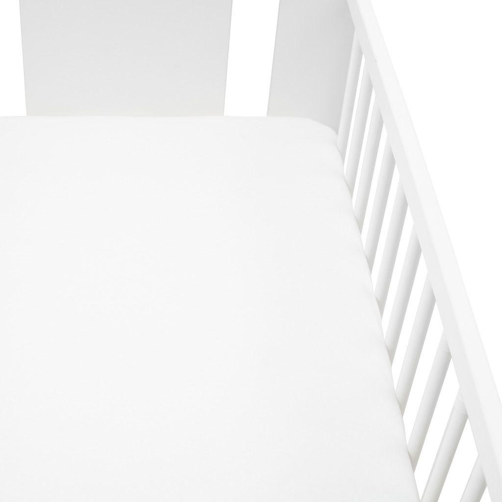 Jersey prestieradlo do postieľky New Baby 120x60 biele