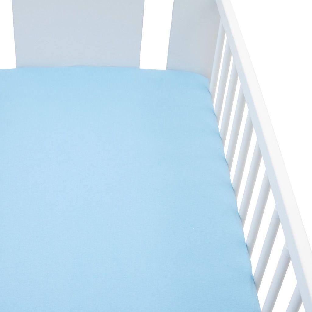 Jersey prestieradlo do postieľky New Baby 120x60 modré