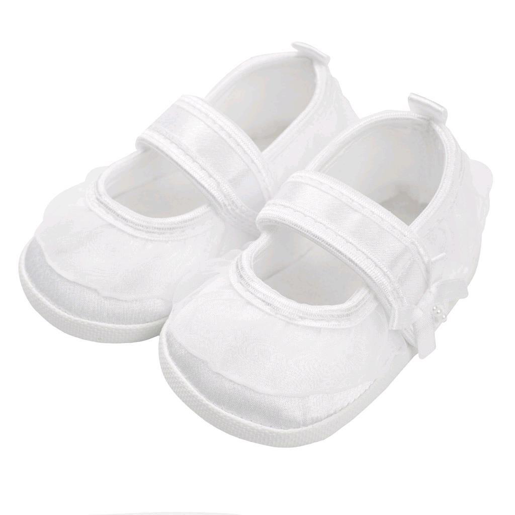 Dojčenské capačky New Baby saténové biele 12-18 m 12-18 m