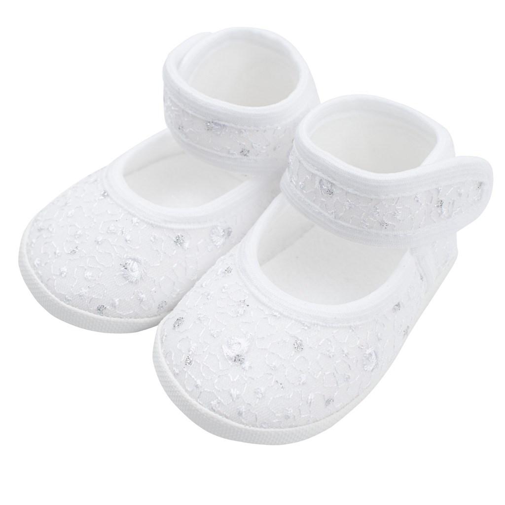 Dojčenské capačky New Baby strieborno-biele 12-18 m 12-18 m