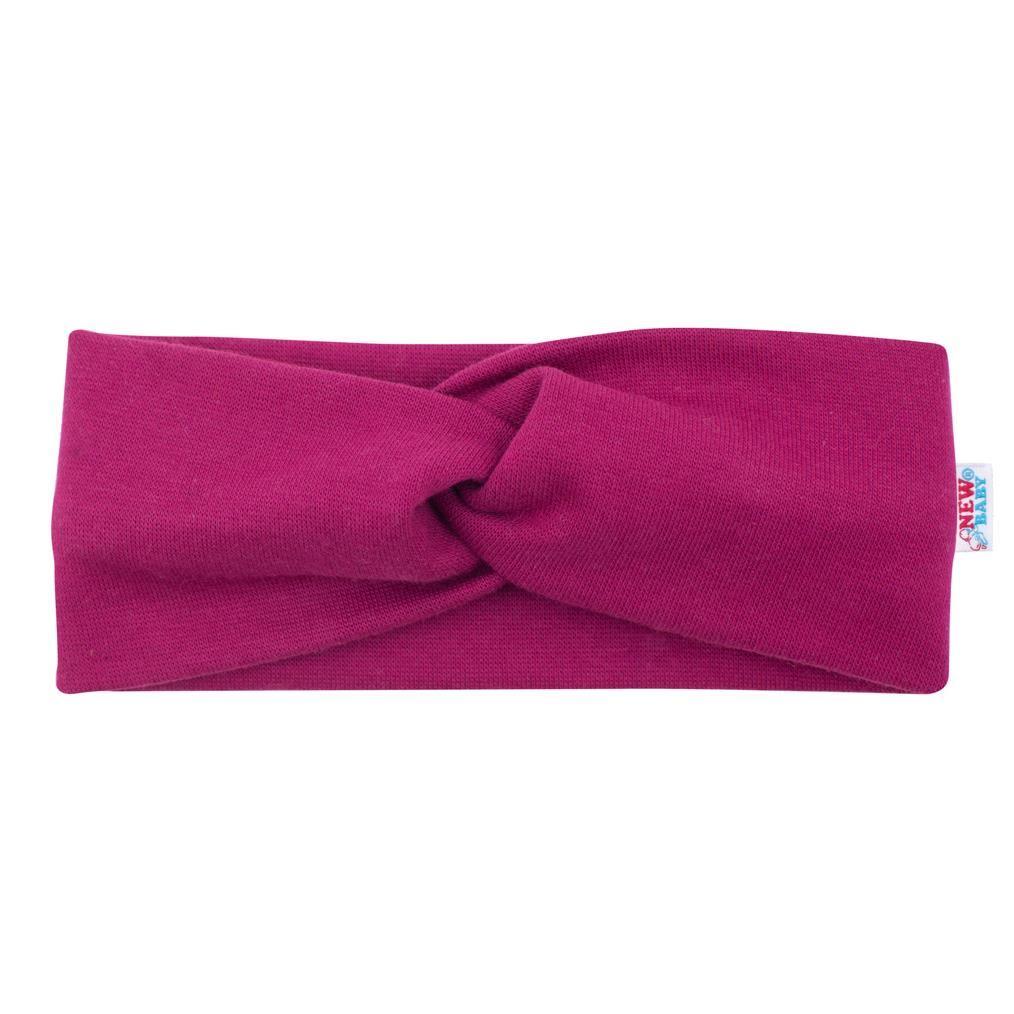Dojčenská čelenka New Baby Style tmavo fialová 40,5 cm
