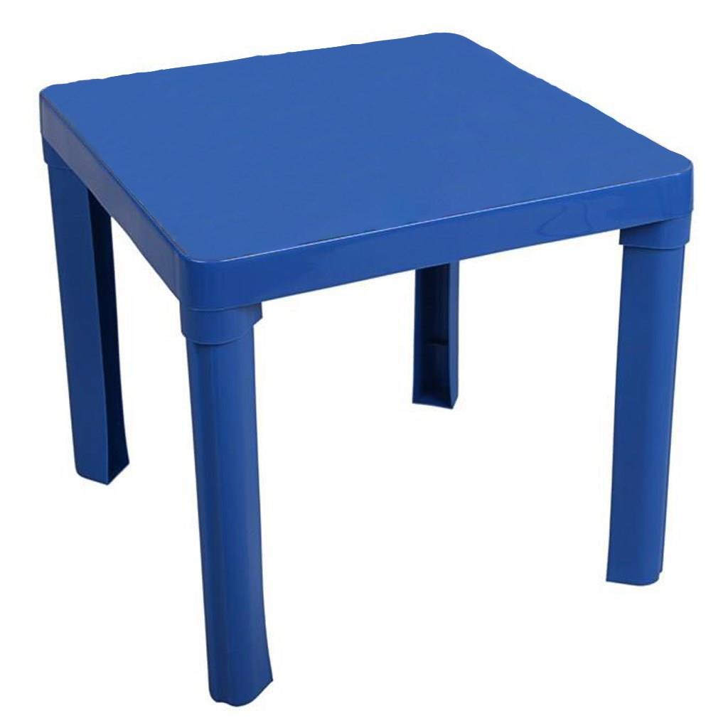 Detský záhradný nábytok - Plastový stôl modrý bez obrázku