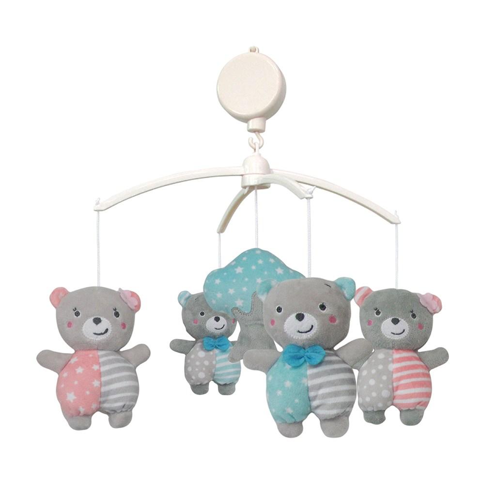 Kolotoč nad postieľku Baby Mix Medvedíky priatelia