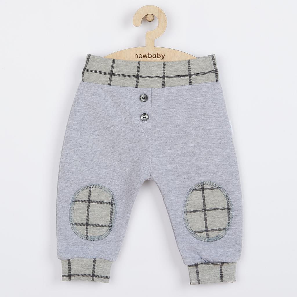 Dojčenské bavlnené tepláčky New Baby Cool sivé 62 (3-6m)