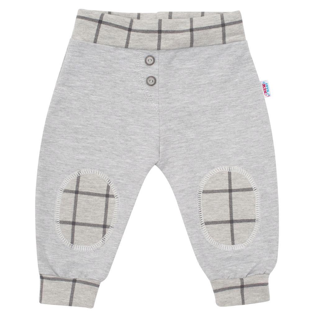 Dojčenské bavlnené tepláčky New Baby Cool sivé 68 (4-6m)