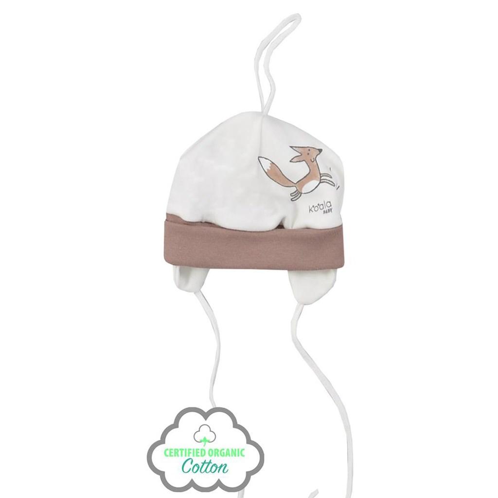 Dojčenská čiapočka z organickej bavlny Koala Lesný Priateľ béžová