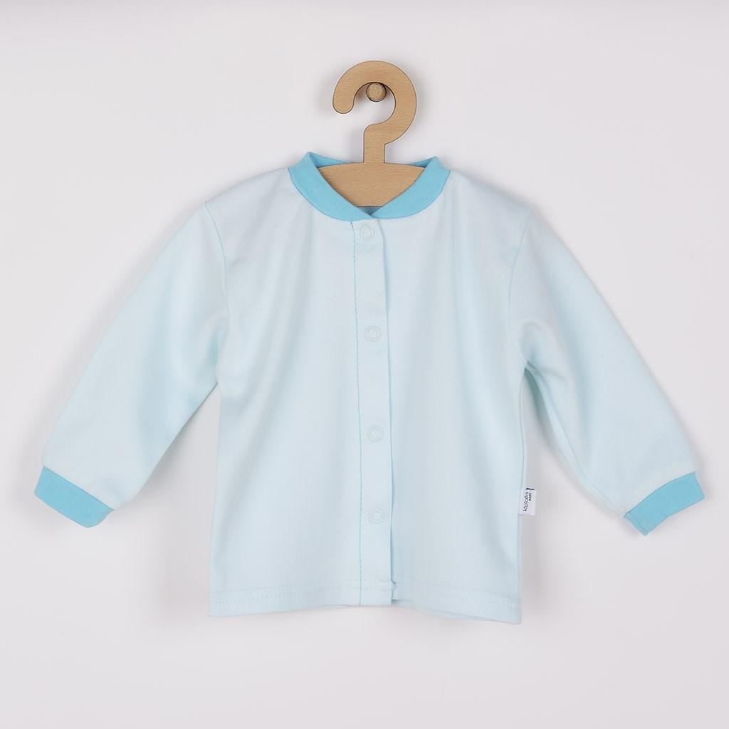Dojčenský kabátik z organickej bavlny Koala Lesný Priateľ modrý