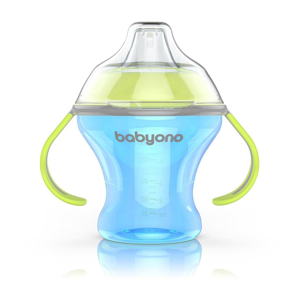 Netečúci hrnček s mäkkým náustkom Baby Ono 180 ml modrý