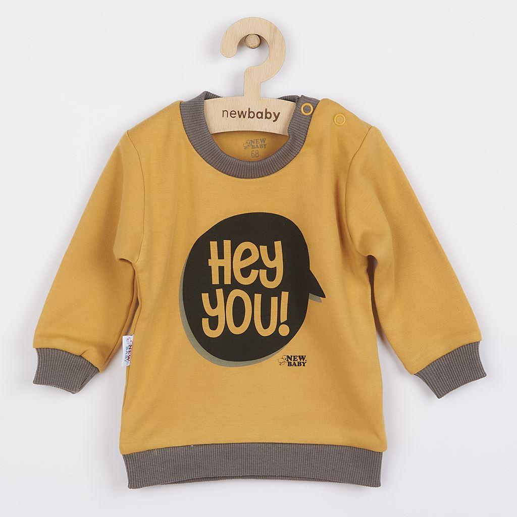 Dojčenské tričko New Baby With Love horčicové-62 (3-6m)