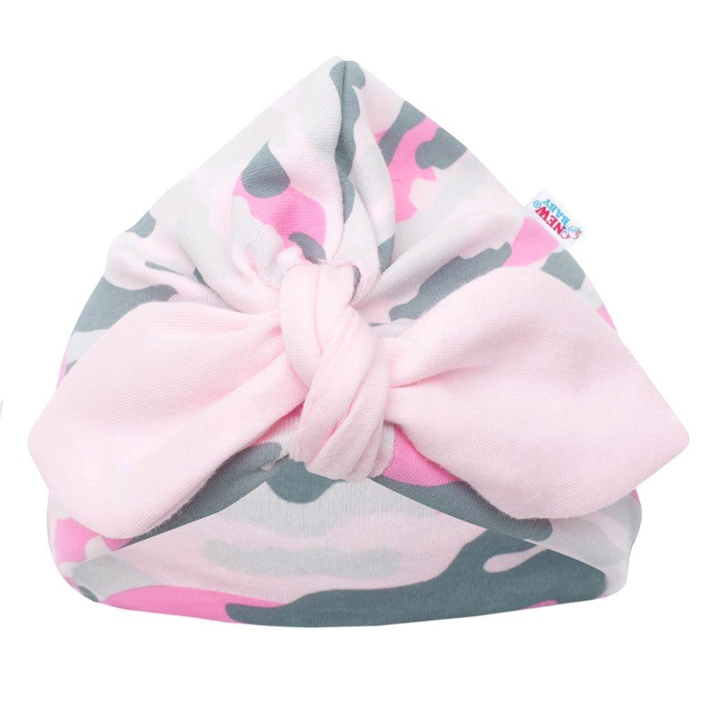 Dojčenská čiapočka turban New Baby With Love ružová